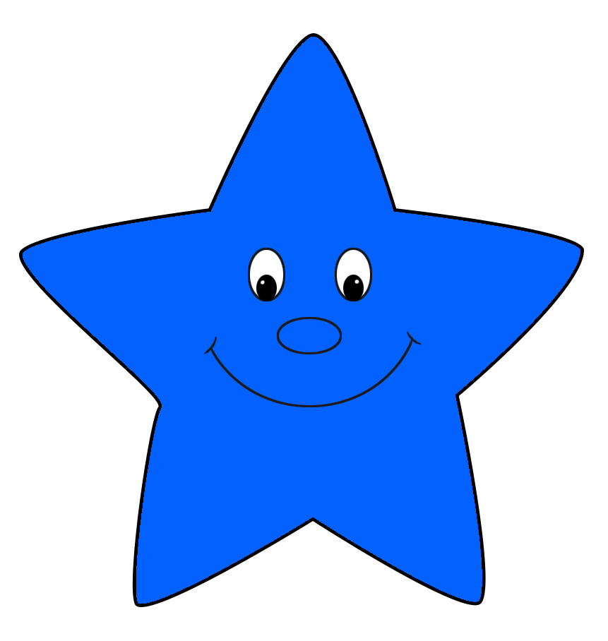 Star with smile clipart clipart Star Clipart clipart