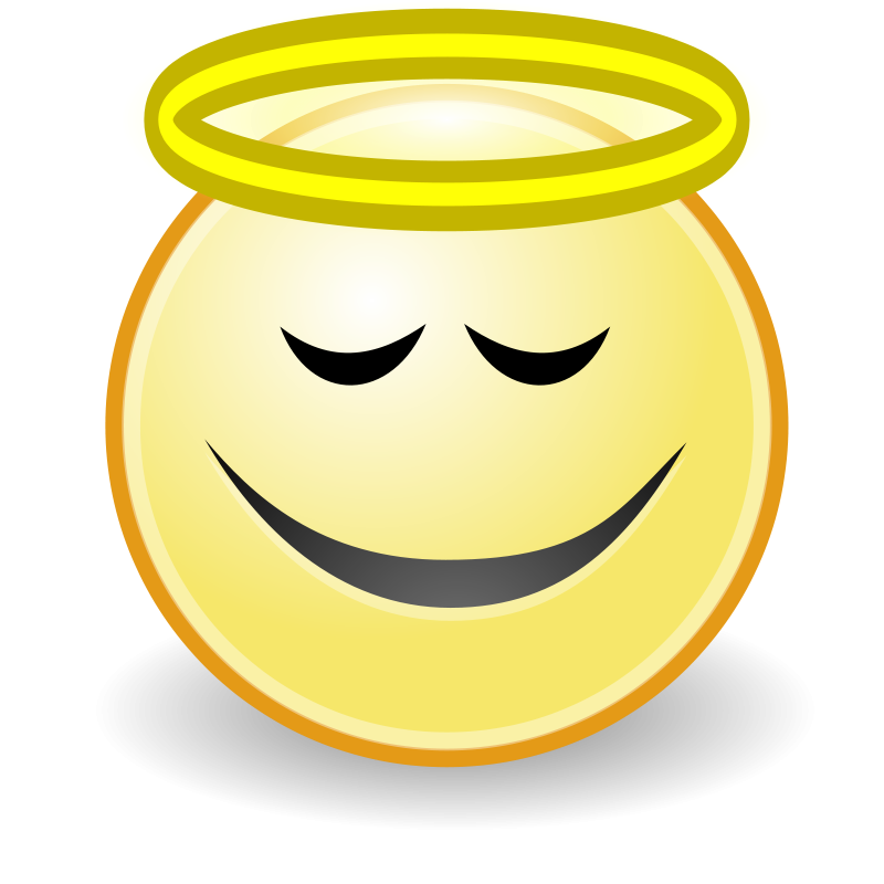 Smiley angel face clipart