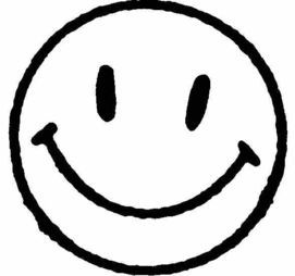 Smiley clipart black and white