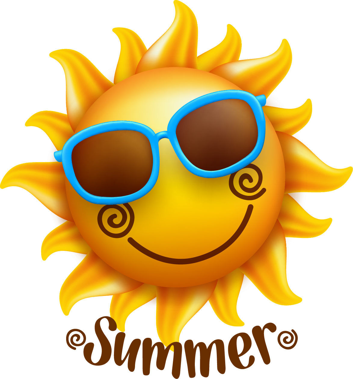 Smiley face sun clipart transparent Smiley Face Illustration - Summer sun 1174*1260 transprent Png Free ... transparent