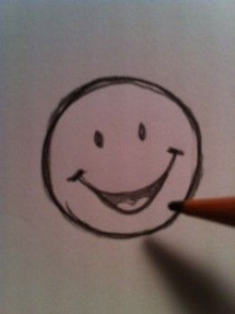 Smiley face painting wet paint clipart graphic black and white download How to Draw a Happy Face   Drawing & Sketching Tutorials and ... graphic black and white download