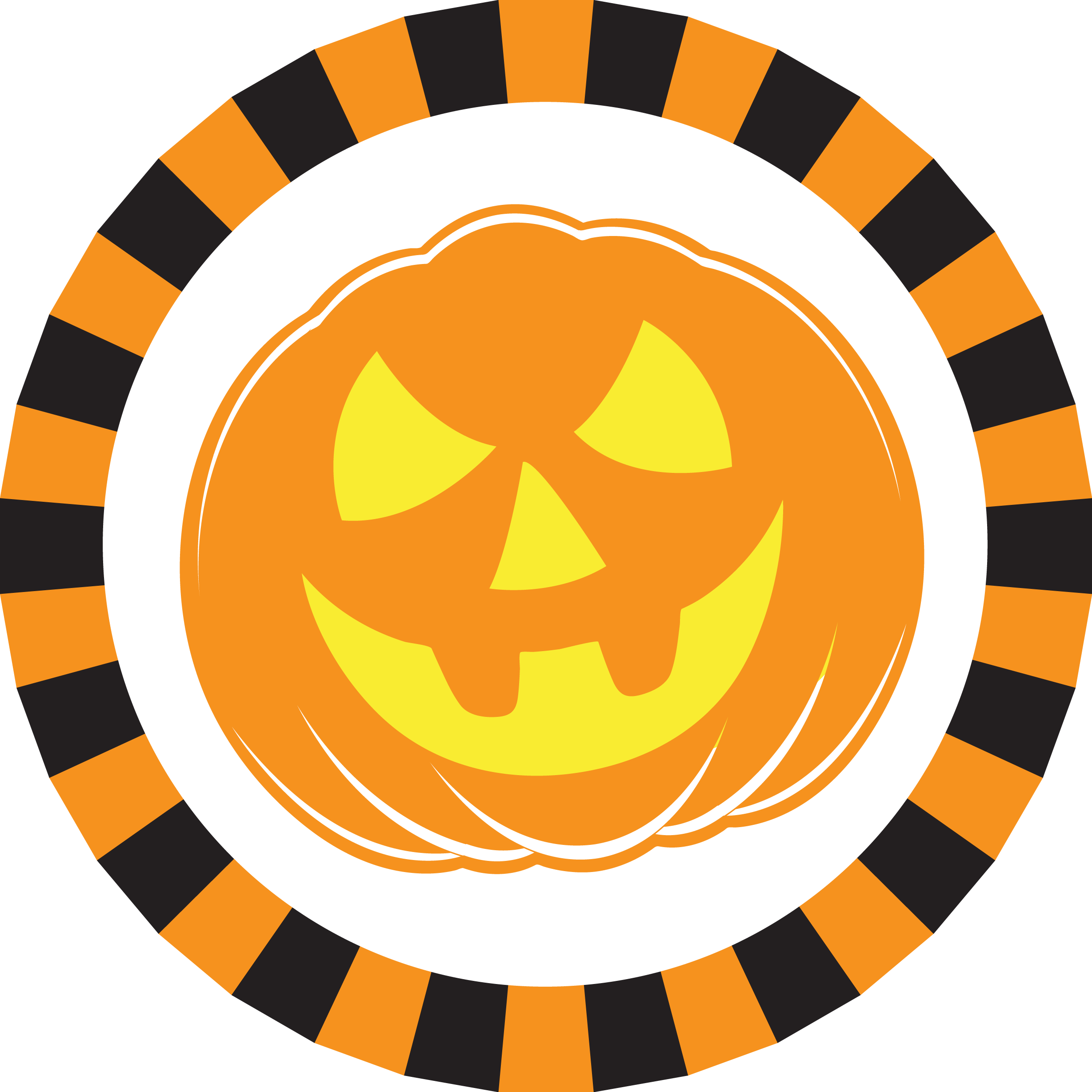 Smiley pumpkin clipart png freeuse download Halloween Napkin Knot - Scary Pumpkin (Qty:10) png freeuse download