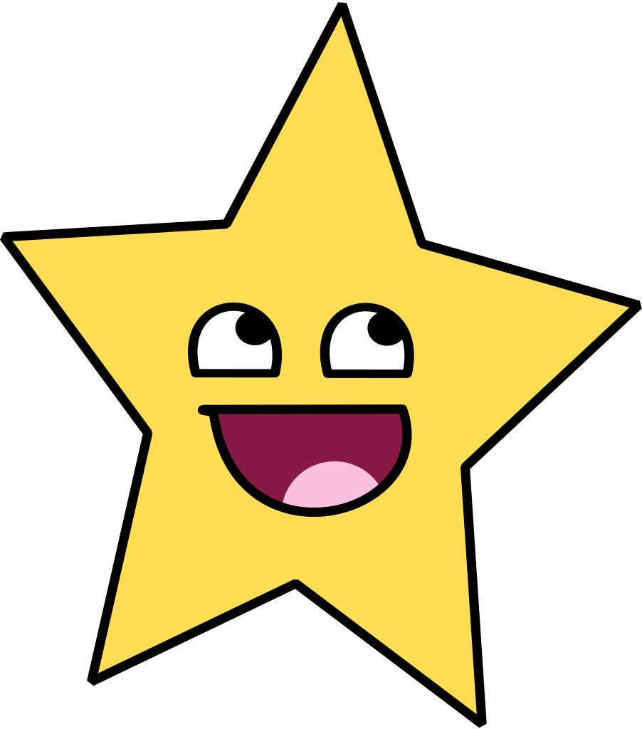 Smiley star clipart png royalty free download File:718star.svg - Wikimedia Commons png royalty free download