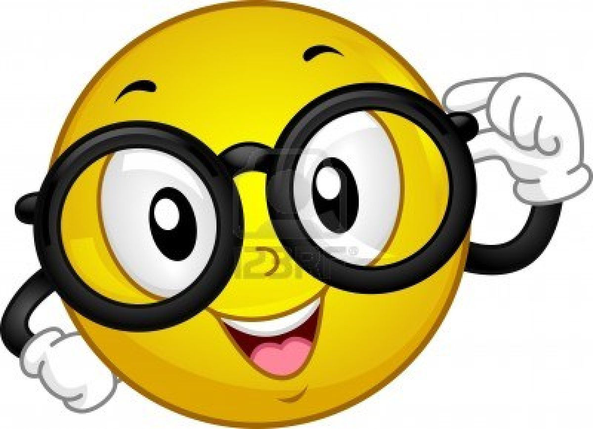 Smiley with glasses clipart