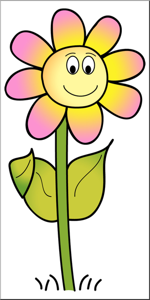 Smiling daisy clipart png free stock Clip Art: Smiling Daisy Color 2 I abcteach.com | abcteach png free stock