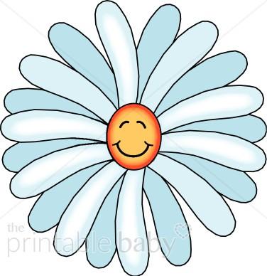 Smiling daisy clipart svg transparent Smiling Daisy Clipart | Garden Baby Clipart svg transparent