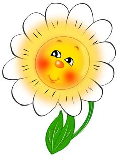 Smiling daisy clipart clip free Smiling Daisy Cliparts - Making-The-Web.com clip free