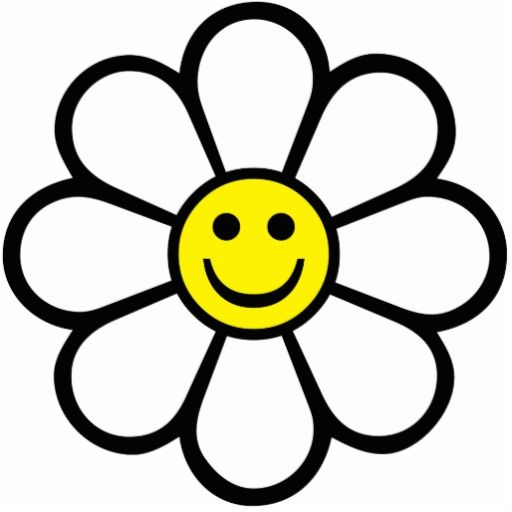 Smiling daisy clipart picture free library Smiley Daisy Photo Cutouts at Zazzle. - ClipArt Best ... picture free library