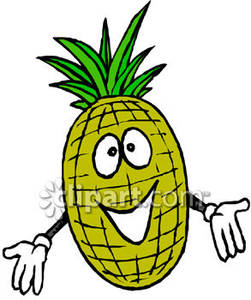 Smiling pineapple clipart png transparent A Pineapple Smiling - Royalty Free Clipart Picture png transparent