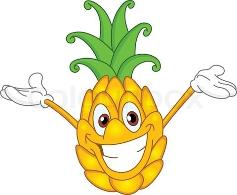 Smiling pineapple clipart svg royalty free library Pineapple Black And White | Free download best Pineapple ... svg royalty free library