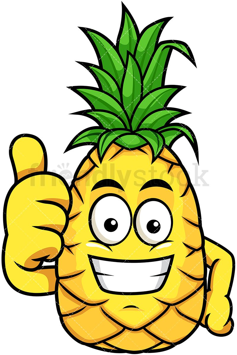 Smiling pineapple clipart png freeuse Grinning Pineapple Thumbs Up | Vector Illustrations in 2019 ... png freeuse