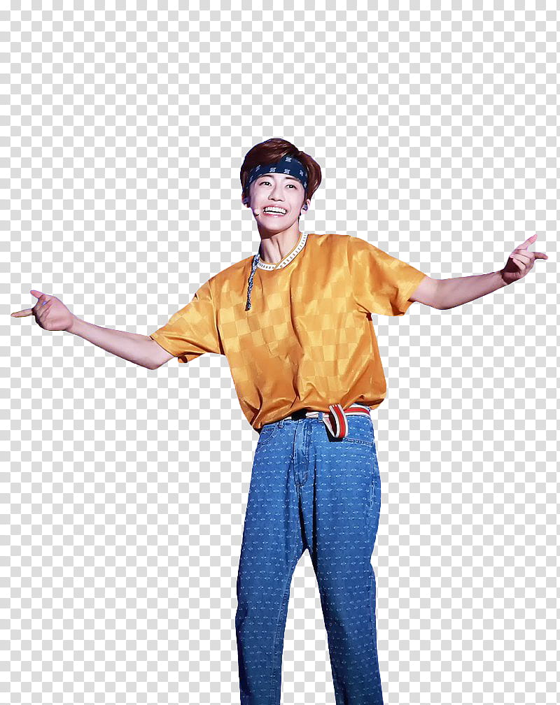 Smiling shirt clipart clip black and white JAEMIN NCT DREAM, smiling man wearing yellow shirt and blue ... clip black and white
