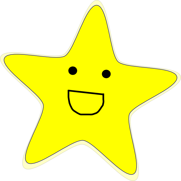 Smiling star clipart image black and white library Happy Star Clip Art at Clker.com - vector clip art online, royalty ... image black and white library