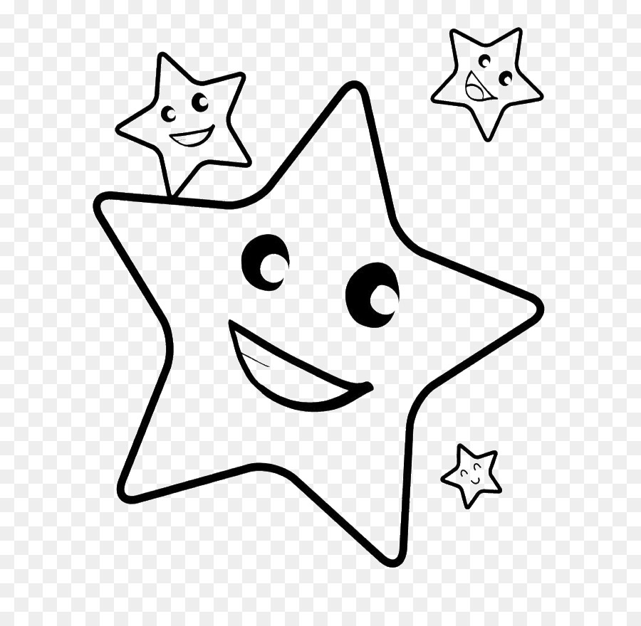 Smiling star clipart black and white transparent vector black and white library Book Black And White clipart - Drawing, Child, Star ... vector black and white library