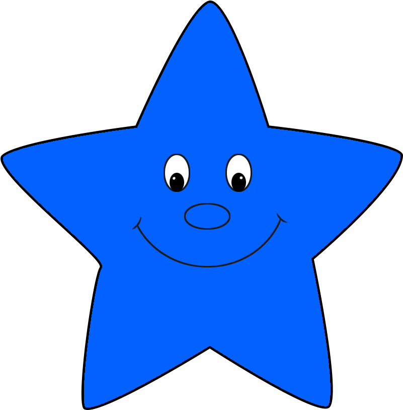 Smiling star clipart black and white transparent image freeuse library Image Royalty Free Download Star Pink Cartoon Clip - Blue ... image freeuse library