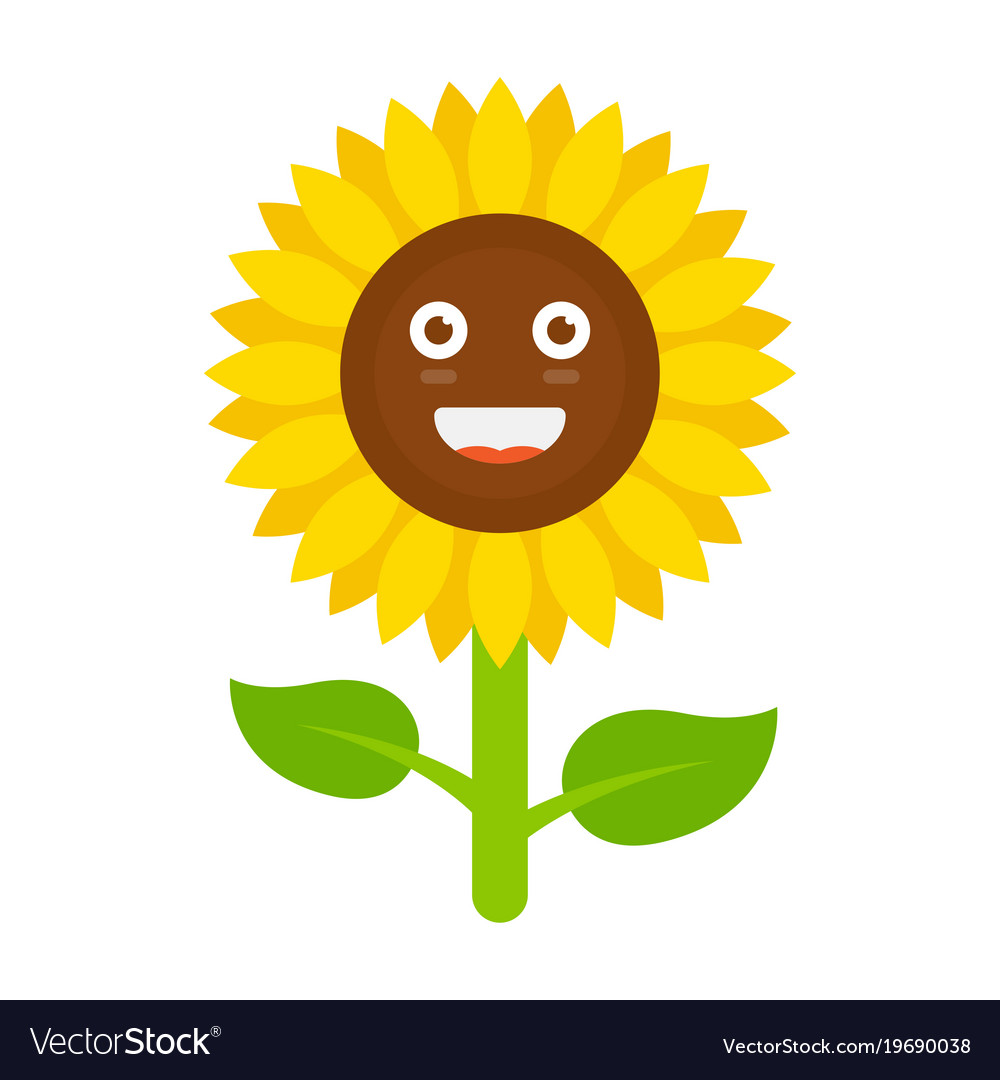 Smiling sunflower clipart
