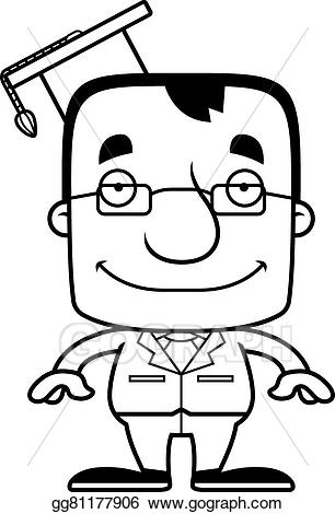 Smiling teacher clipart black and white Vector Art - Cartoon smiling teacher man. Clipart Drawing ... black and white