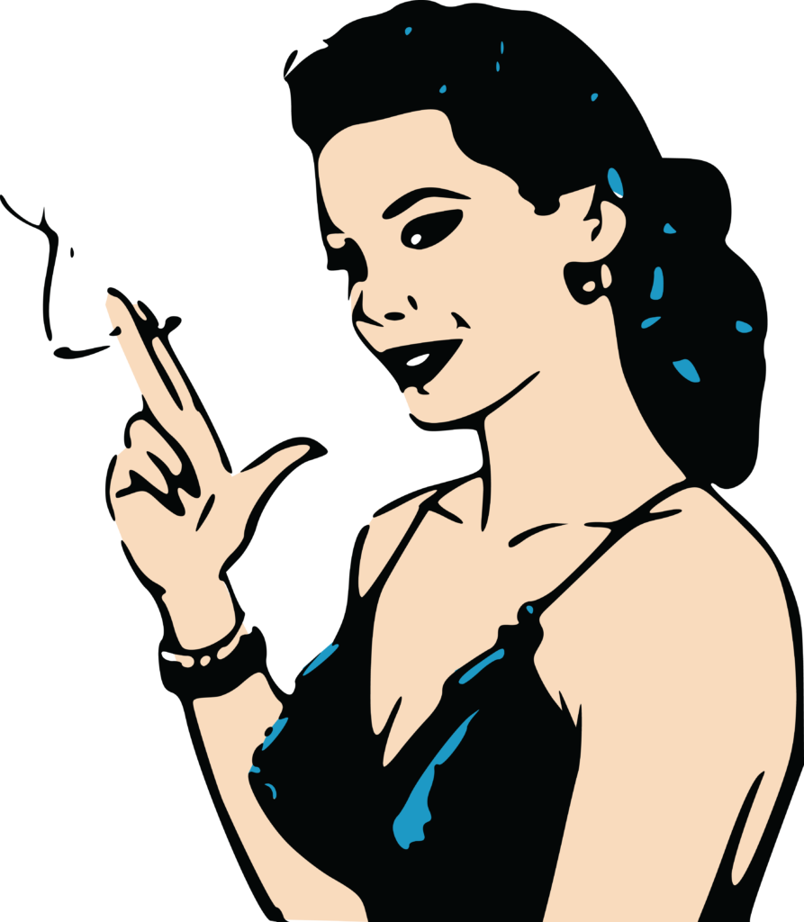 Smoking car clipart picture library stock 1461 Free Clipart Of A Retro Woman Smoking Cigarette Cartoon ... picture library stock
