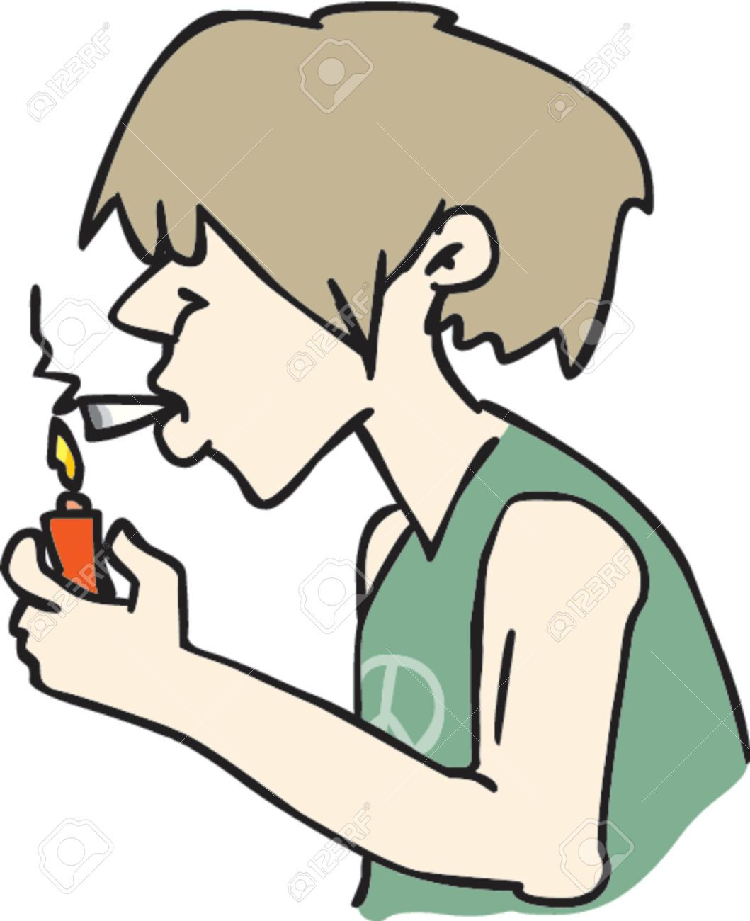 Smoking weed clipart