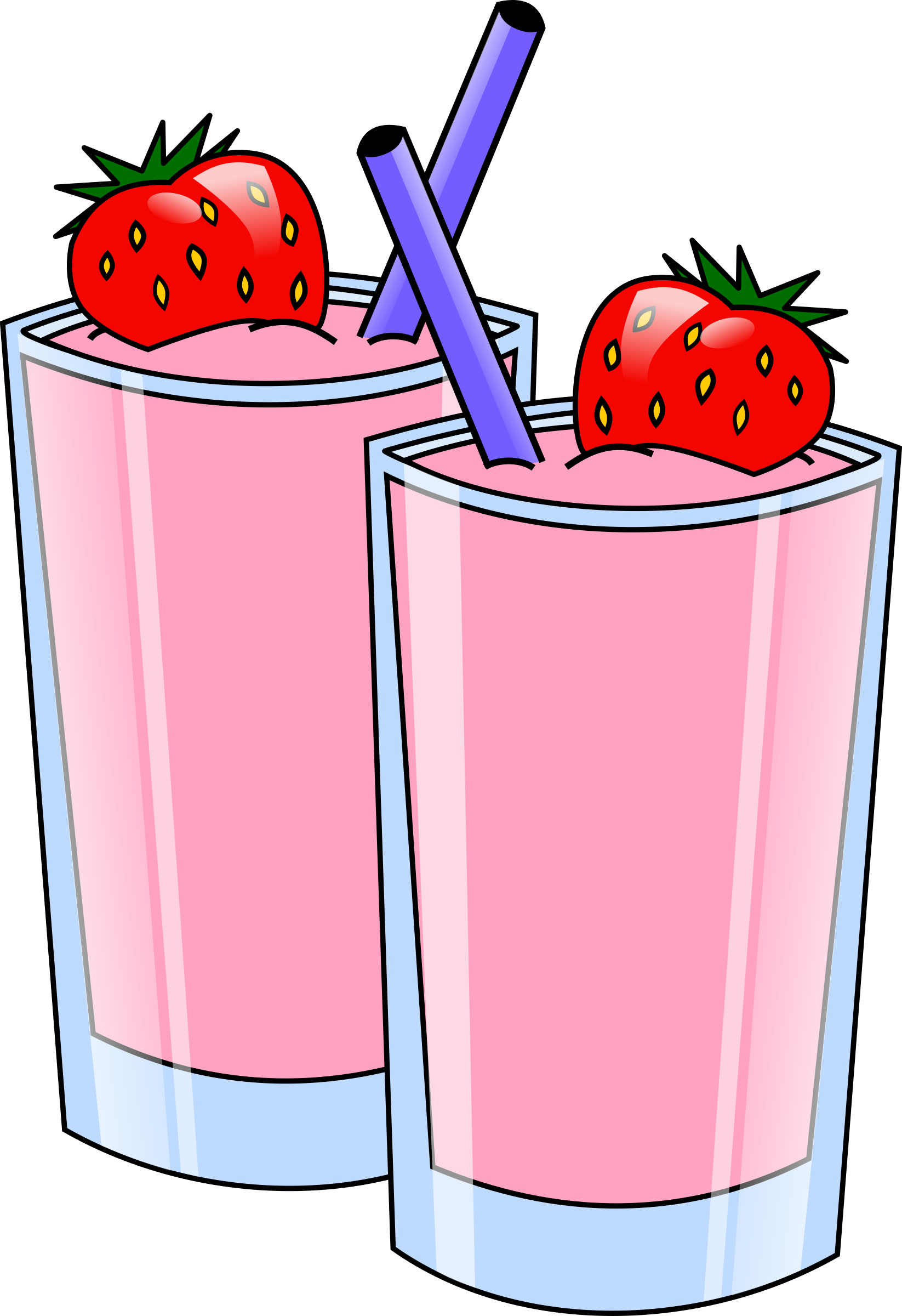 Strawberry Smoothie Vector Clipart image - Free stock photo ... picture library stock
