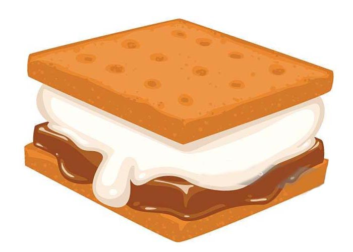 Smore s clipart image freeuse library Smores Cookies Clipart - Clipart1001 - Free Cliparts image freeuse library