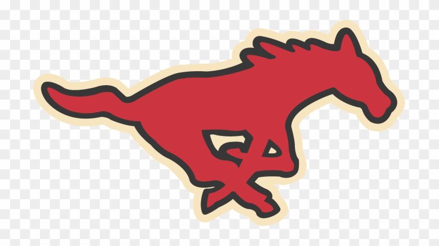Red Running Mustang - Smu Football Clipart (#2191605 ... svg download