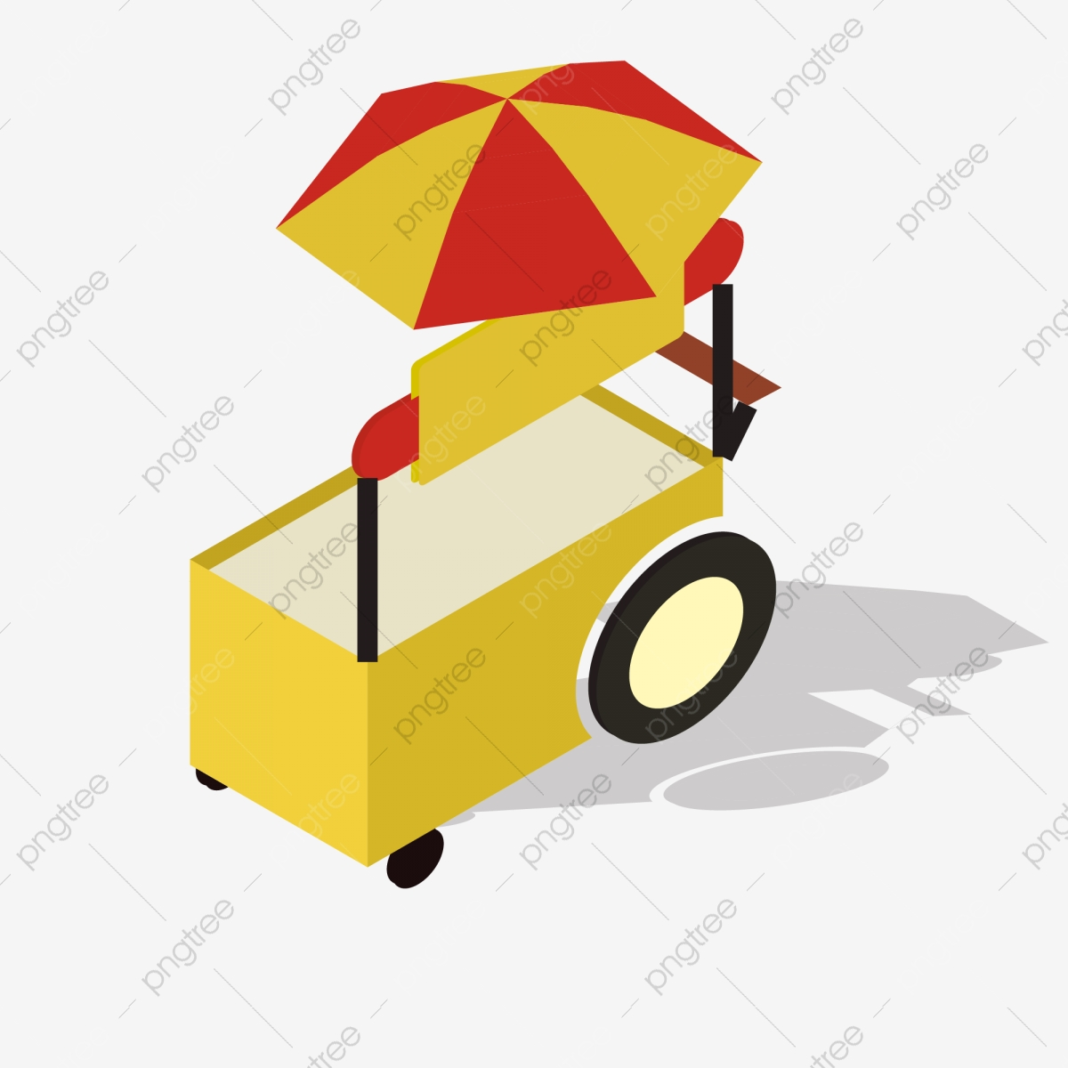 Snack cart clipart free library 2.5d Yellow Snack Cart Material Stereo, 2.5d, Yellow, Snack ... free library
