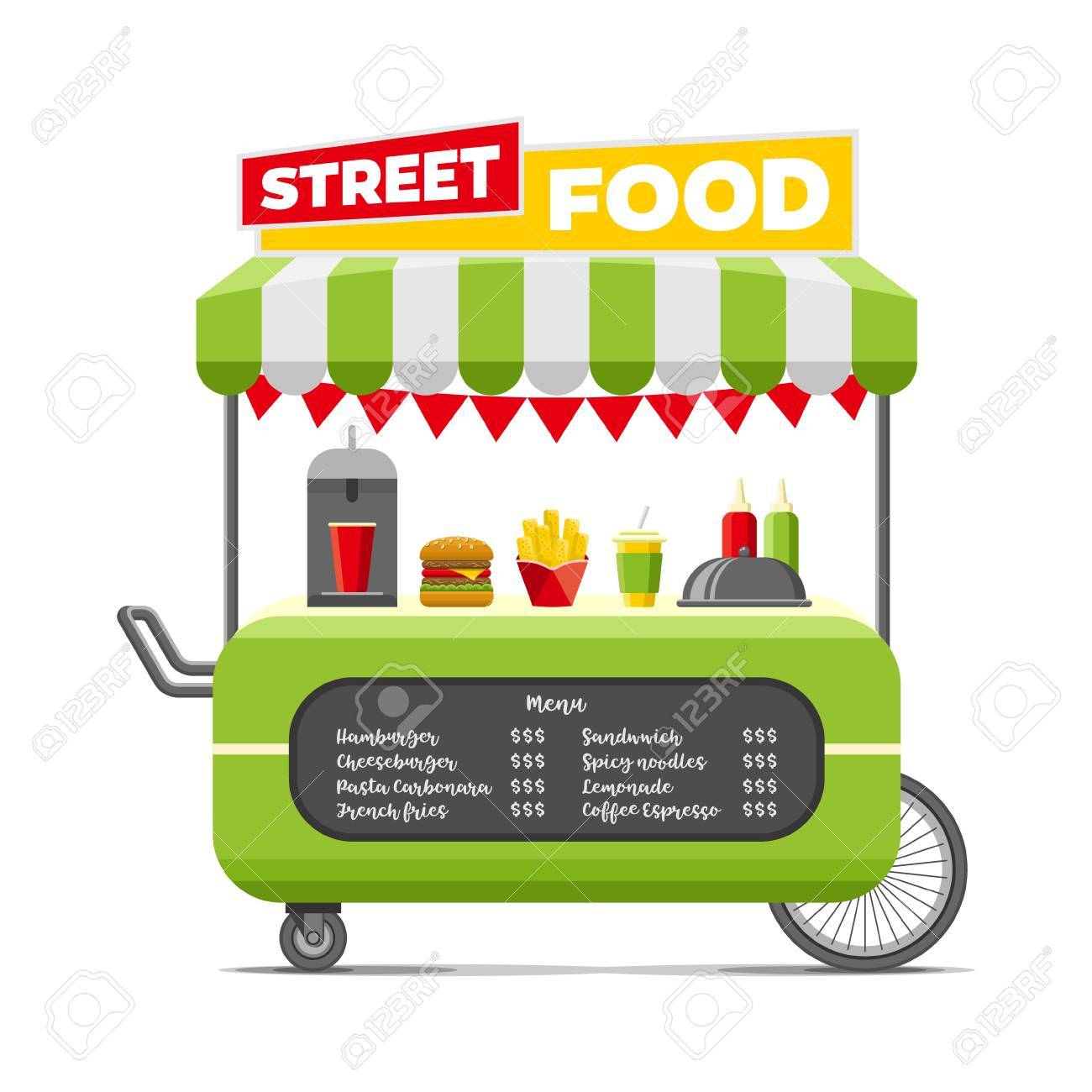 Snack cart clipart graphic library stock Food Trucks, Food Clipart, Snack Cart, Cartoon PNG Image And ... graphic library stock