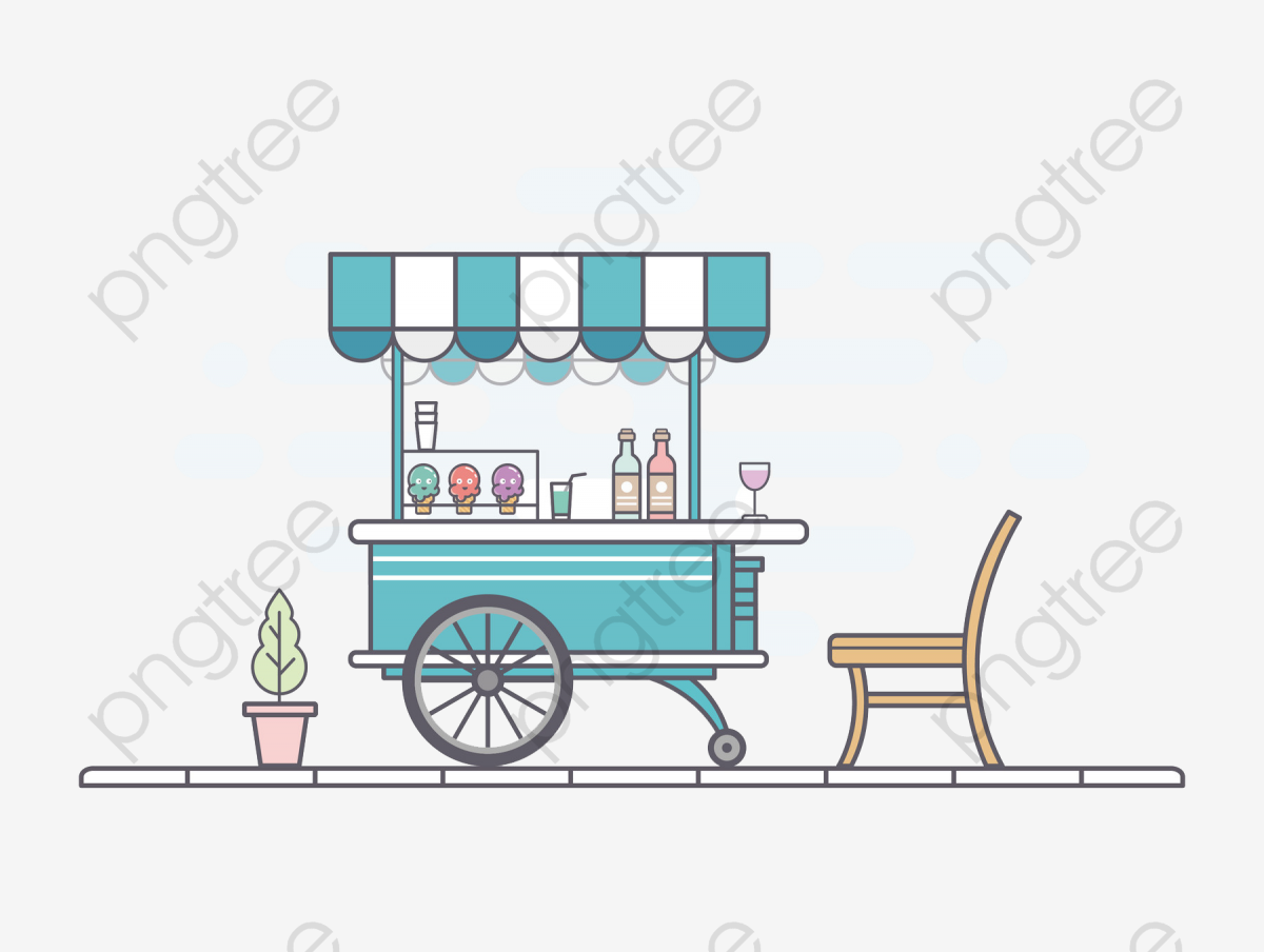 Snack cart clipart clip art freeuse library Transparent small fresh roadside stalls snack cart PNG ... clip art freeuse library