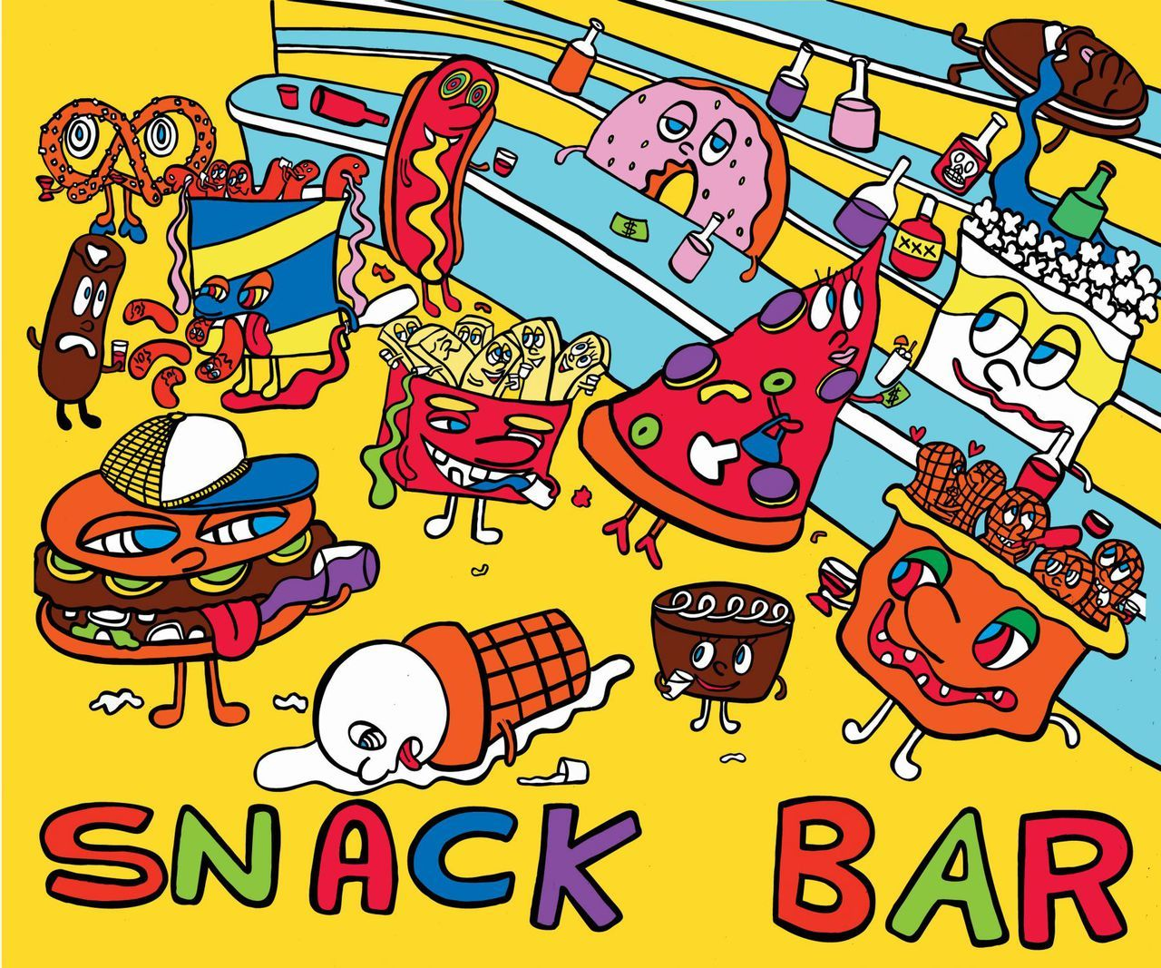 Snack shop poster clipart picture library stock Marcoart Snack Bar Signed Print on Paper or Plexi picture library stock
