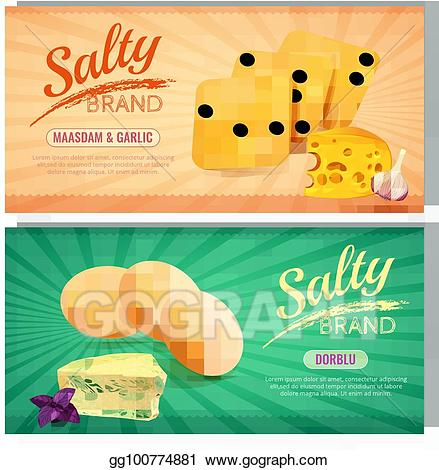 Vector Stock - Delicious salty snacks banners. Clipart ... black and white download