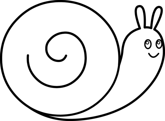 Cute Snail Coloring Page - Free Clip Art clip black and white library