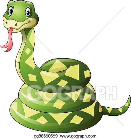 Snake cartoon clipart clipart transparent library EPS Vector - Cute green snake cartoon. Stock Clipart ... clipart transparent library