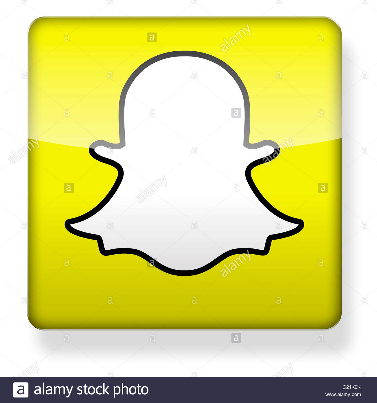 Snapchat app clipart clip art transparent library Snapchat Logo As An App Icon. Clipping Path Included Stock Photo ... clip art transparent library
