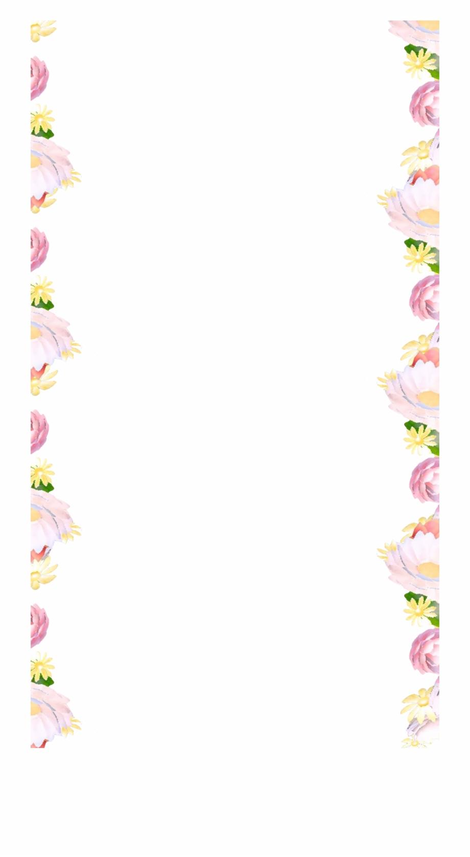 Snapchat border clipart png transparent Flower Border - Flower Border Snapchat Filter Free PNG ... png transparent