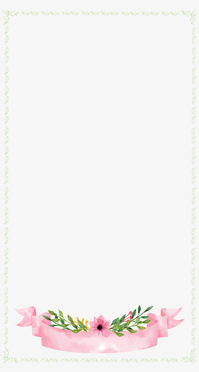 Snapchat border clipart image black and white stock Floral Banner With Border Wedding Snapchat Filter - No-name ... image black and white stock