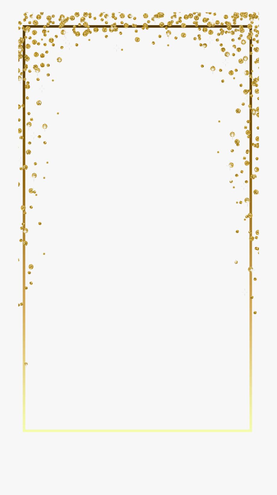 Snapchat border clipart clip art download Gold Glitter Frame Png Image - Snapchat Border Png #479196 ... clip art download