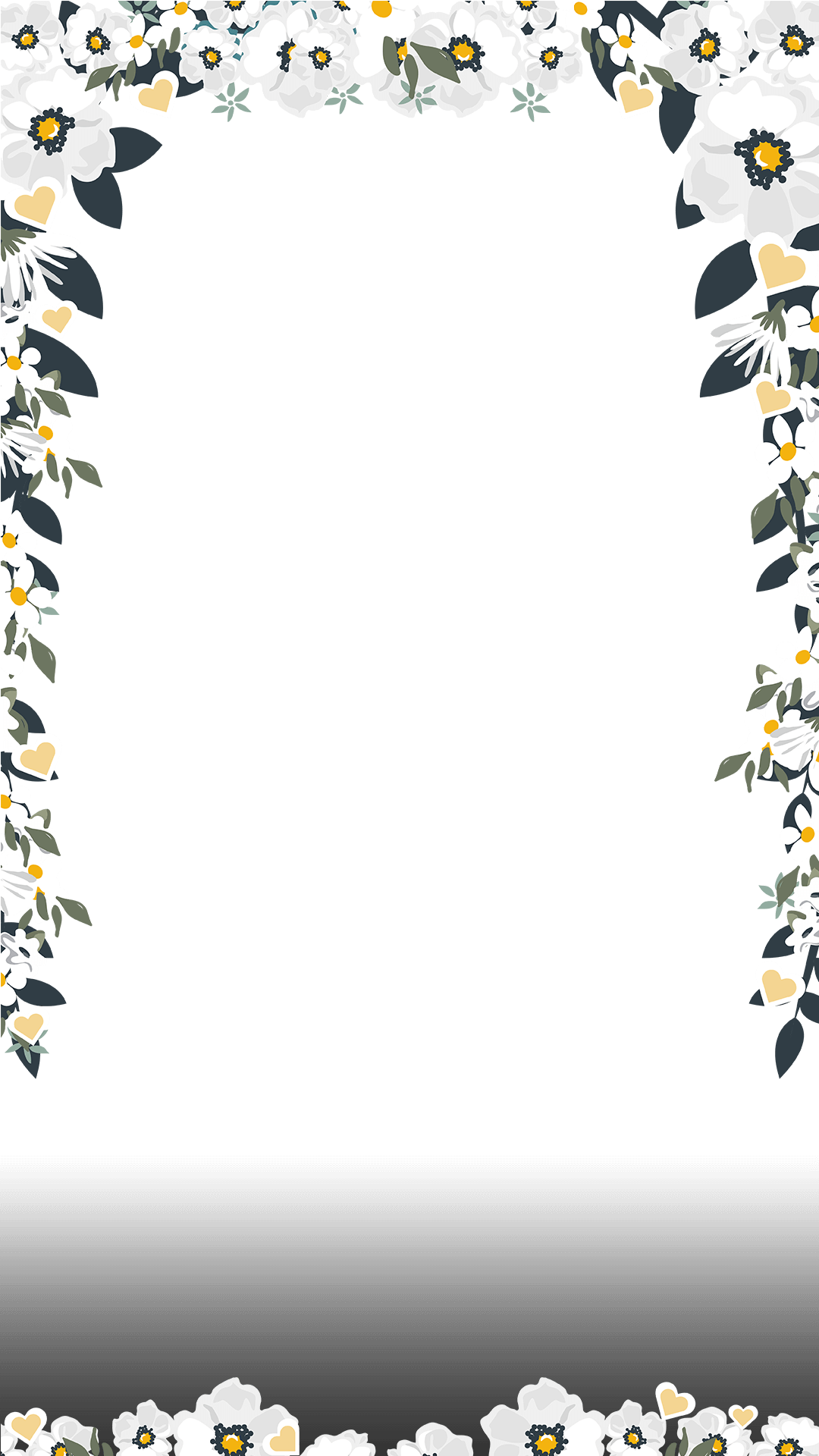 Elegant White Floral Wedding Snapchat Filter | Geofilter ... clip royalty free