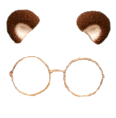 Snapchat glasses filter clipart png royalty free download kawaii cute soft aesthetic bear brown glasses filter... png royalty free download