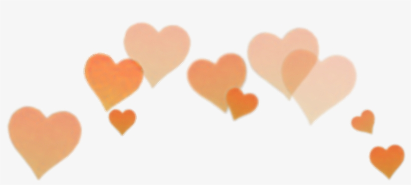Snapchat hearts clipart picture black and white download Orange Heart Filter Snapchat Snapchat Crown Clip Art ... picture black and white download