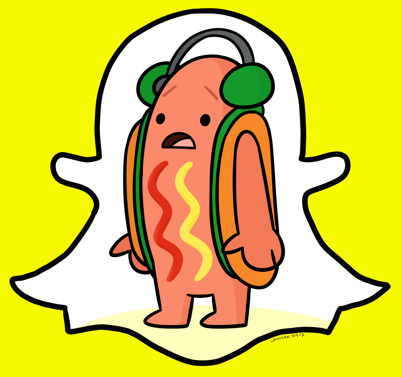 Snapchat hot dog clipart vector freeuse library Snapchat Hotdog Meme Fanart | Dancing Hot Dog Snapchat ... vector freeuse library
