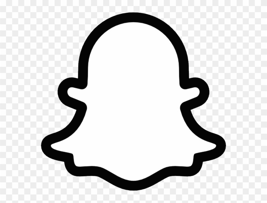 Snapchat logo clipart svg library library Snapchat Logo Png - Snapchat Ghost Printable Clipart ... svg library library