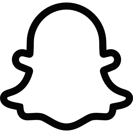 Snapchat logo clipart transparent background jpg transparent library Snapchat Ghost Logo Black and White transparent PNG - StickPNG jpg transparent library