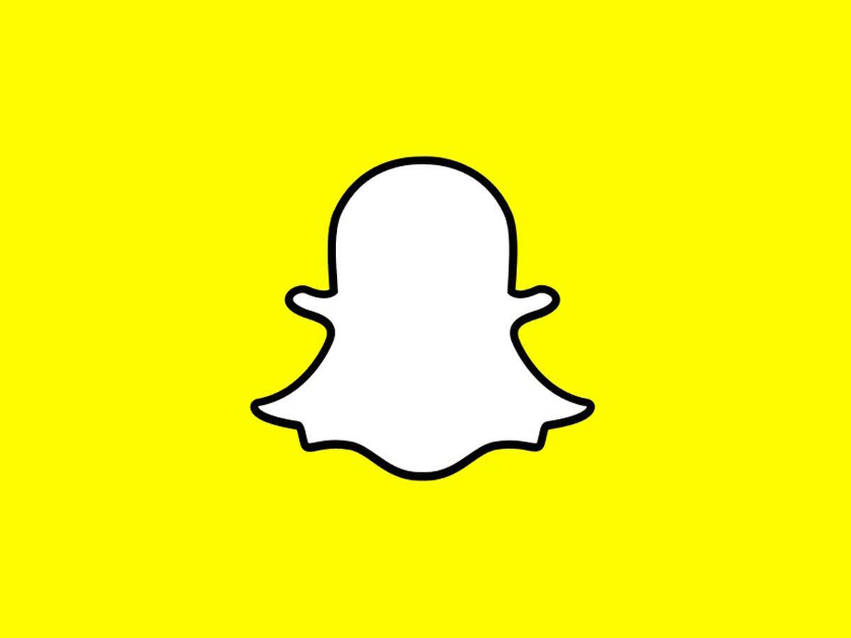 Snapchat star cliparts picture freeuse Snapchat Thumb Logo Yellow Background picture freeuse