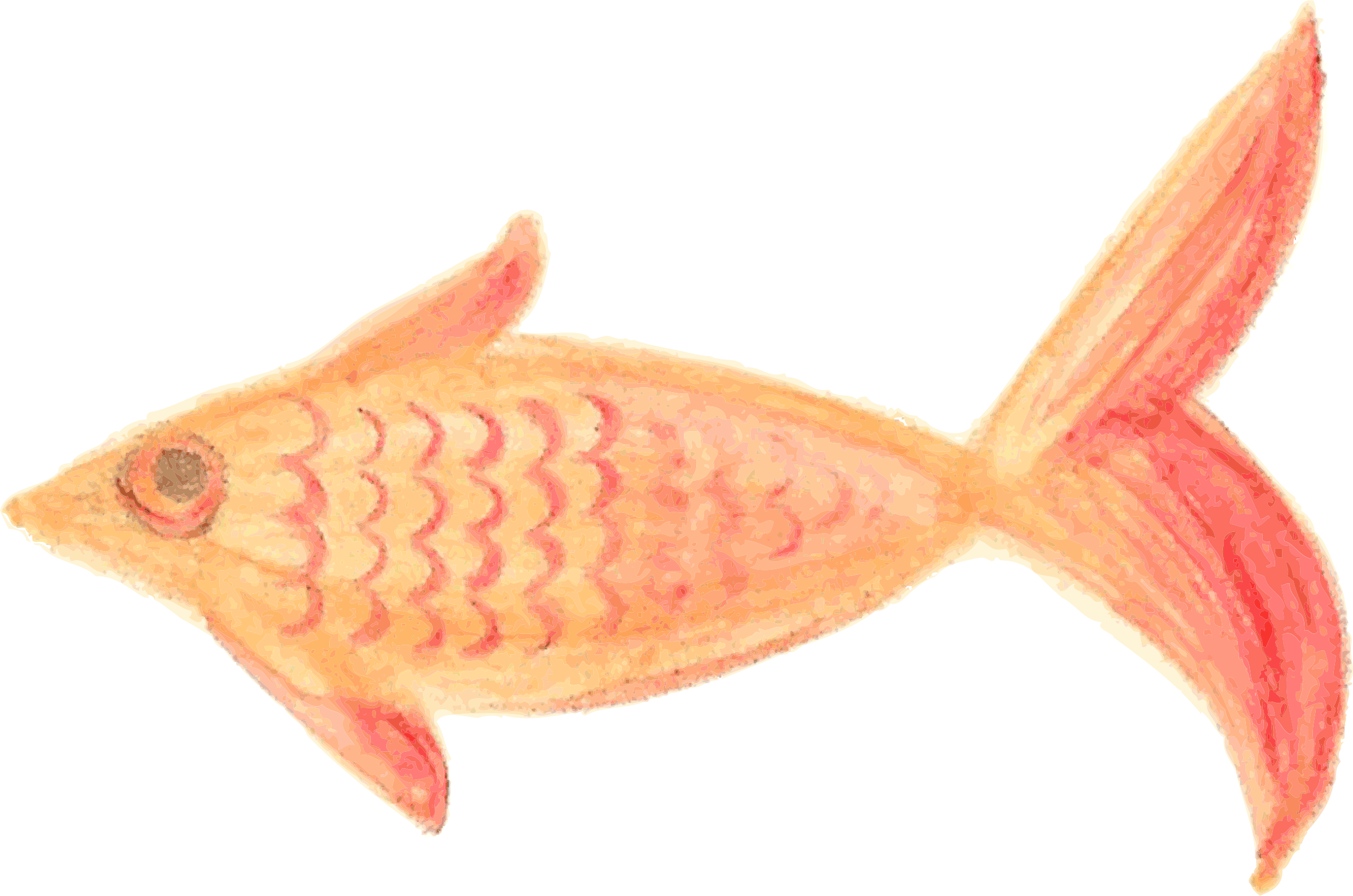 Snapper fish clipart jpg Clipart - Painted Fish Orange patterned traced jpg