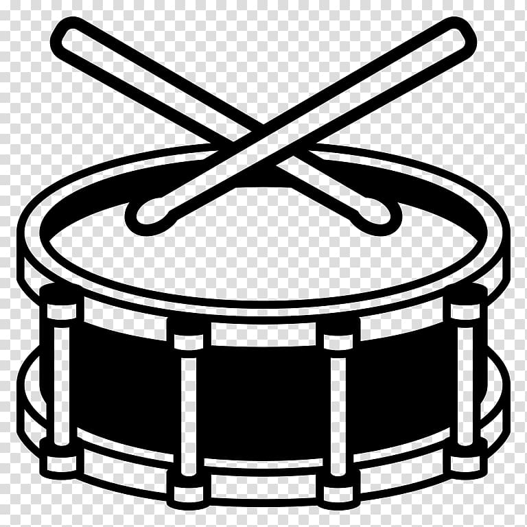 Snare drum clipart black and white clip transparent download Snare Drums Emoji Musical Instruments, drum transparent ... clip transparent download