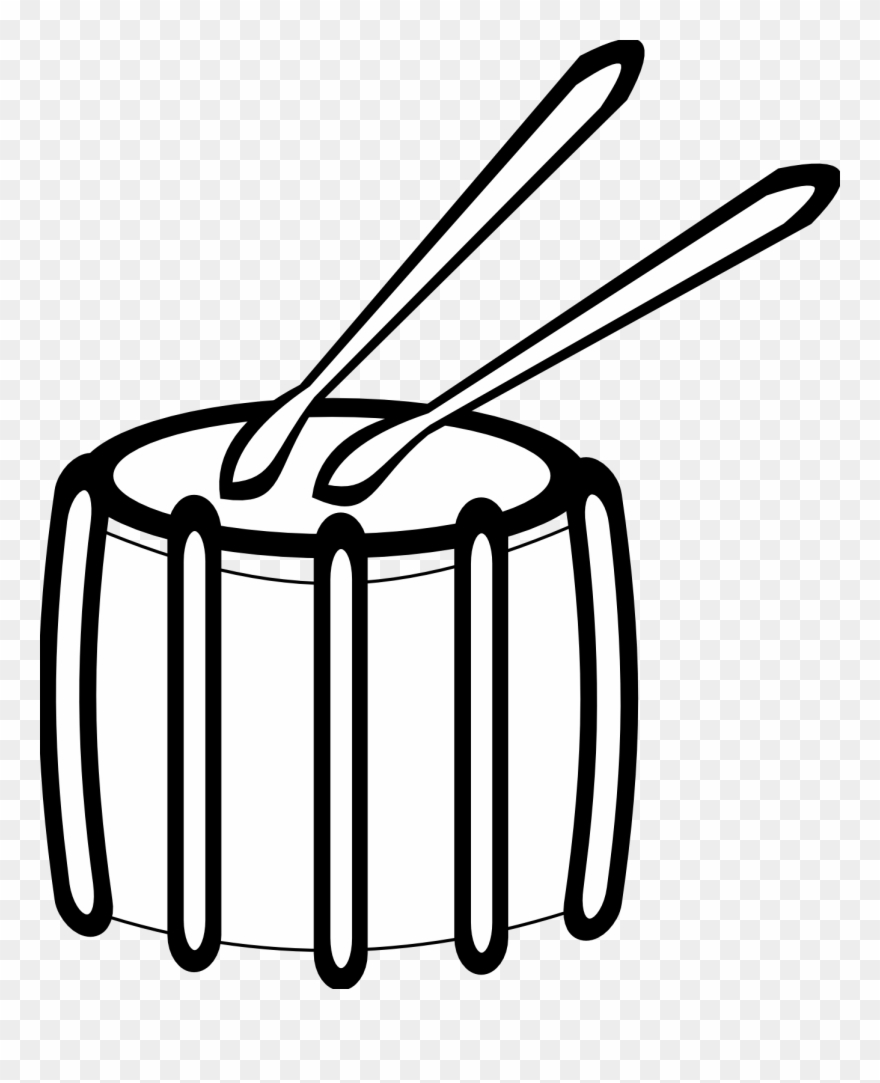Collection Of Sounds Black And White - Snare Drum Clipart ... clip art free