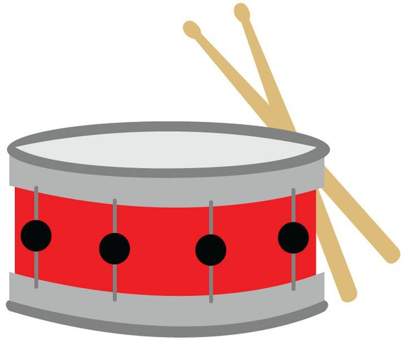 Snare drums clipart vector royalty free library Snare Drum Clip Art/ Red Snare Drum with Drumsticks Vector ... vector royalty free library
