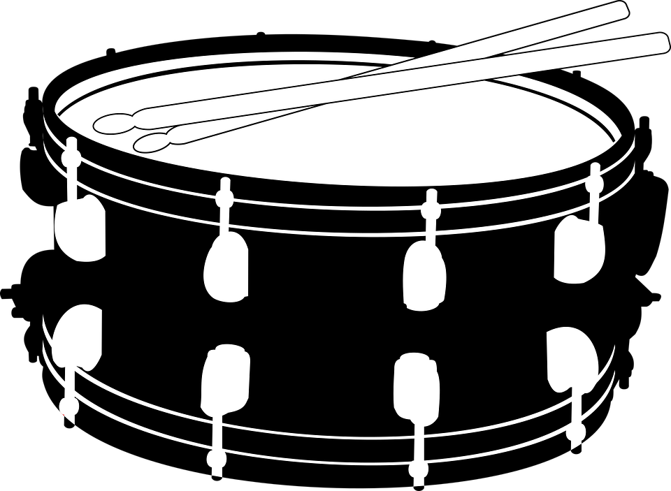 Snare drum free clipart black and white library Free Image on Pixabay - Drums, Snare, Music, Sticks | Drums ... black and white library