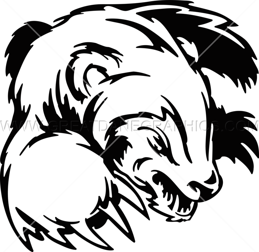 Snarling dog clipart clipart royalty free Snarling Badger | Production Ready Artwork for T-Shirt Printing clipart royalty free